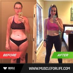 """Rachel is """"only"""" 16 pounds lighter since starting Thinner Leaner Stronger a year ago, but check out how much her physique has changed!"""