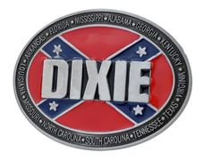 Buckle Rage Dixie Rebel Flag Belt Buckle Southern Pride South Redneck Red One Size