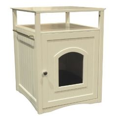 arenero para gato blanco