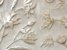 This is a photo I took at the Taj Mahal of the marble carvings