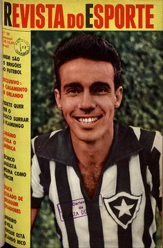 Foto Rara, de 1959: Zagallo do Botafogo F.R. (RJ)