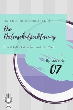 Kiss & Tell - Tatsachen auf den Tisch #Datenschutz #Podcast #Privatsphäre #Privacy #DSGVO #Datenschutzerklärung #KissAndTell #Wahrheit #Truth Kiss & Tell, Chart, Personalized Items, Easy, Facts, Table