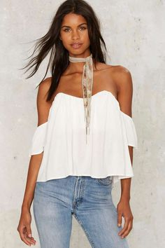 No Time to Cry Off Shoulder Top - Clothes | Blouses | Summer Whites | Off The Shoulder