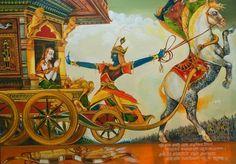Bhagavad Gita , oil on canvas