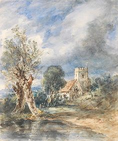John constable - #stoke #poges church vintage fine art #print, View more on the LINK: http://www.zeppy.io/product/gb/2/262040783128/