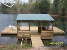 New backyard pond dock Ideas Lake Dock, Boat Dock, Dock House, Farm Pond, Haus Am See, Floating Dock, Deck Pictures, Fish Ponds, Lake Cabins