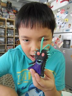 Happy Ethan and his Terra project http://gariesim.blogspot.sg/2014/04/all-creative-learning-for-children.html