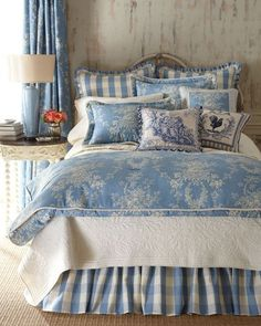 Blue country bedroom french country decor i just love blue and white in a bedroom country blue country bedroom french 72 best powder blue images on french blue bedroom design amusing bedroom design white furniture Blue Rooms, Blue Bedroom, Bedroom Decor, Bedroom Ideas, Bedroom Furniture, White Bedrooms, Master Bedrooms, Budget Bedroom, Bedroom Pictures