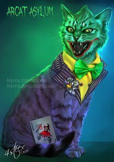 http://4steex.deviantart.com/art/Arcat-Asylum-The-Joker-Cat-581191278