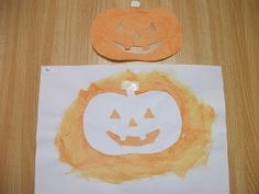 Halloween Jack-o-lantern Face Craft