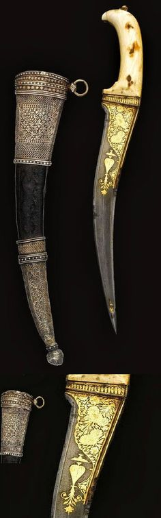 Ivory-hilted Peshkabz Dagger Dated: 18th-19th century Culture: Indian Place of Origin: India
