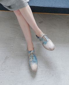 Ohta multicolored lace-ups.  On the Japanese site Palm Maison.