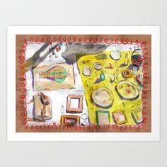 Moroccan Market Art Print by Michelle Schwartzbauer - $18.00 #art #painting #illustration