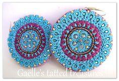 Handmade earrings purple lilac Mandala by gaestattedtreasures