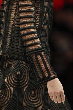 Raised Patterns - line & curve; closeup fashion details // Christopher Kane
