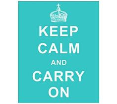 """Art and accessories add style to your dorm! Keep Calm and Carry On Aqua 20"""" Wall Art 