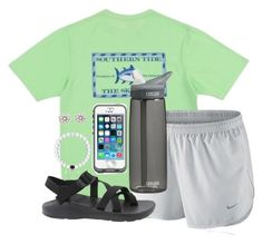 """""""Let all that you do be done in love."""" by kaley-ii ❤ liked on Polyvore featuring NIKE, Chaco, CamelBak, LifeProof, Lord & Taylor, women's clothing, women, female, woman and misses"""