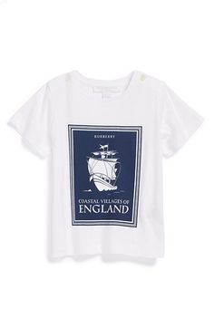 Burberry 'Coastal England' Graphic T-Shirt (Baby Boys) available at #Nordstrom