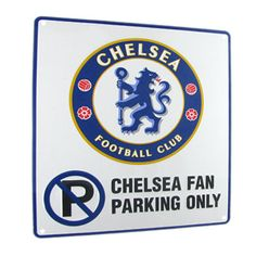 CHELSEA FC No Parking Metal Sign Approx 23cm x 25cm. Official Licensed Chelsea FC gift. PRICE INCLUDES DELIVERY