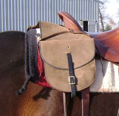 Distressed Leather Saddle Bags  Handmade by SodaBrookTack on Etsy, $165.00