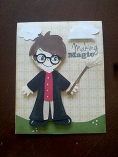 Harry Potter Cricut card using Paper Doll Dress Up and Teddy Bear Parade.