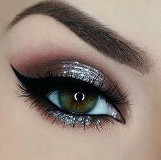 Glitter Eye Makeup Makeup - Glitter eye makeup _ glitzer augen make-up _ maquillage des yeux scintillant _ maq - Prom Eye Makeup, Eyeshadow Makeup, Wedding Makeup, Hair Makeup, Pageant Makeup, Wedding Nails, Beauty Makeup, Eyeshadow Palette, Gloss Eyeshadow
