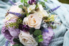 Custom wedding bridal bouquet by ElizabethRoseCrafts on Etsy