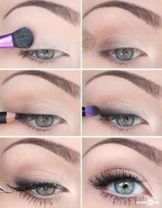 Eye Makeup Tips.Smokey Eye Makeup Tips - For a Catchy and Impressive Look How To Make Hair, Eye Make Up, All Things Beauty, Beauty Make Up, Pretty Makeup, Makeup Looks, Make Up Gesicht, Skin Makeup, Wedding Makeup