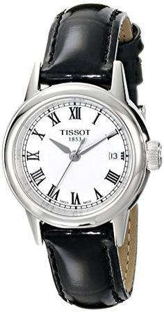 Tissot Women's T0852101601300 Carson Analog Display Swiss Quartz Black Watch Tissot http://www.amazon.com/dp/B00DRKJCZY/ref=cm_sw_r_pi_dp_5BN1ub0QX2Y8H
