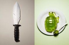 Брайтонский дизайнер Кайл Бин (Kyle Bean) создал серию работ под назвнием Безобидное оружие (Harmless weapon) для иллюстрации статьи в журнале CUT Magazine.