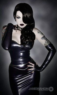 I am in the mood to see some Pin Up Girls. My wifes friend is a photographer and is going to start shooting Pin Up photos and could use some ideas. Post whatever Pin Up photos you want, doesn't matter. Hope to see some nice ones. Pvc Fashion, Latex Fashion, Dark Fashion, Gothic Fashion, Dark Beauty, Goth Beauty, Mode Latex, Gothic Mode, Estilo Rock