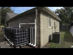 DIY 1,100 Gallon Rainwater Harvesting & Collection System - YouTube