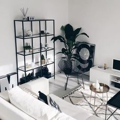 Image discovered by Shorena Ratiani. Find images and videos about home, decor and interior on We Heart It - the app to get lost in what you love. #DIYHomeDecorBlackAndWhite
