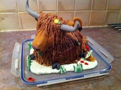 Henrietta the Highland cow cake