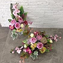 Grave Flowers, Funeral Flowers, Black Flowers, Ikebana, Flower Designs, Floral Arrangements, Floral Wreath, Table Settings, Bouquet