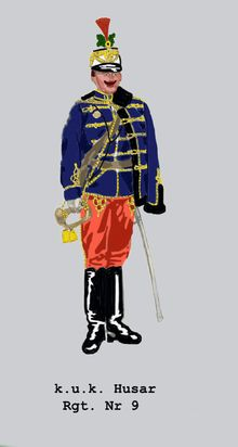 Eskadronstrompeter Husaren Rgt Nr 9 (Dunkelblaue Attila) Austria, Austro Hungarian, Prince Charming, Troops, Empire, Old Things, Military, History, Fictional Characters