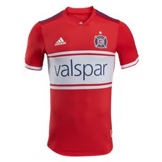 7e34d6e4a adidas Chicago Fire Authentic Home Jersey 2018 - The all new adidas MLS  2018 jerseys.