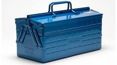 Pack your tools in style with the Trusco Tool Box. Good quality tools these days are hard to come by, and every time I purchase a new one, I treat it like gold. The Trusco Tool box is the perfect p… Garden Tool Storage, Garden Tools, Steel Tool Box, Belt Storage, Tabletop Accessories, House Accessories, Professional Tools, Metal Tools, Packaging