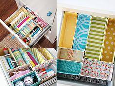 Organizzare i cassetti con il fai da te