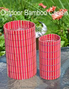 outdoor bamboo candles - Dollar Store Crafts