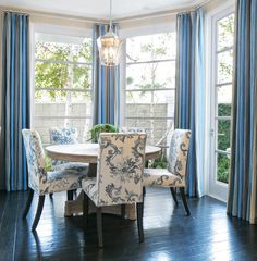 Pleated to the Stripe Home with Classic Blue and White Interiors