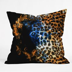 Caleb Troy Leopard Storm Throw Pillow | DENY Designs Home Accessories