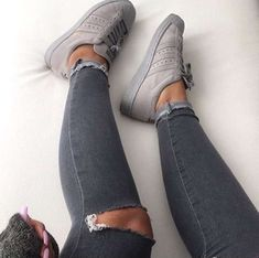 what a lovely grey suede Adidas Superstar sneakers Cute Shoes, Women's Shoes, Me Too Shoes, Shoe Boots, Beige Shoes, Footwear Shoes, Adidas Superstar, Superstar Supercolor, Adidas Shoes Women