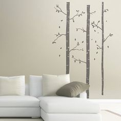 Birch Tree Wall Decor - I have these and love them :) Wall Stickers, Wall Decals, Birch Tree Decor, Target Wall Decor, Birch Tree Wallpaper, Inside Outside, Tree Wall Art, Wall Treatments, House Rooms
