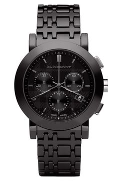 Burberry Large Ceramic Chronograph Watch | Nordstrom