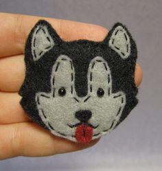 Husky Felt Pin by SweetTreatsGifts on Etsy, $12.00