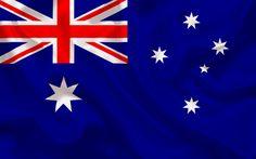 Télécharger fonds d'écran Drapeau australien, l'Australie, la soie bleue, des drapeaux, le drapeau de l'Australie