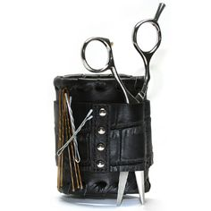 The Salon Armor Magnetic Wristband holds clips, shears, bobby pins, make-up brushes and combs. Slide your expensive shears securley into the pocket and trust the very strong manets to hold them. This wristband makes all of your tools accessible right at your wrist!