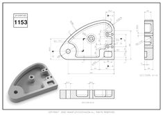 3D CAD EXERCISES 1153 - STUDYCADCAM Solidworks Tutorial, Cad Drawing, Blender 3d, Drawing Practice, Autocad, Robotics, Drawings, Graphics, Map