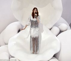Little Mermaid: Florence Welch steals the show performing on Chanel catwalk    [October 2011]